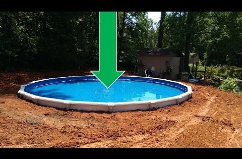Dropping an above ground pool in the ground the details for Fiberglass drop in pools prices