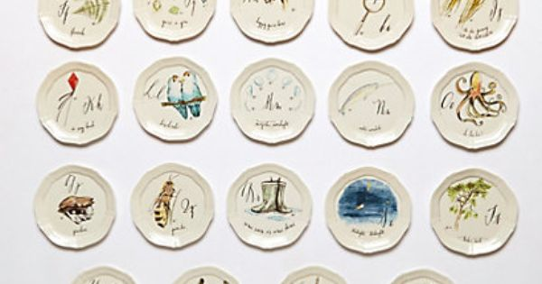 Calligrapher monogram canape plate canapes for Calligrapher canape plate anthropologie