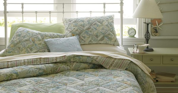 L L Bean S Seaside Floral Quilt And Pima Cotton Percale