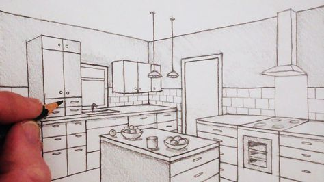 How To Draw 2 Point Perspective In This Time Lapse Version Of How