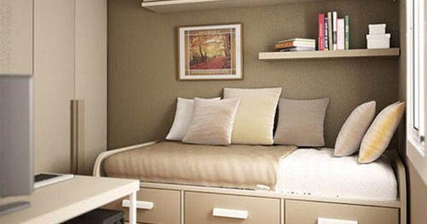 Dormitorios muy peque os como decorar una habitacion muy for Decorar habitacion residencia universitaria