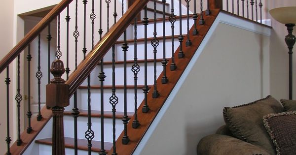 Gorgeous Wooden Handrail For Stairs Adorn Staircase Using Beautiful Iron Stair Railing