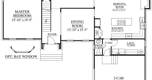 House plan 2995 c springdale c first floor traditional for 2 story house plans master bedroom downstairs