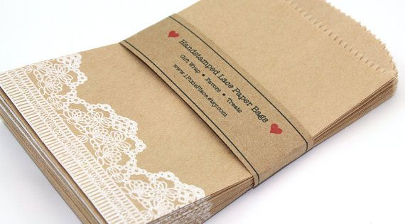 Wedding Gift Wrap Bags : Lace Favor BagsCandy bags, Weddings, Showers, gift wrap, treat bags ...
