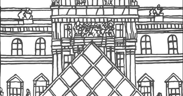 HD wallpapers louvre coloring page free printable regmcomonline