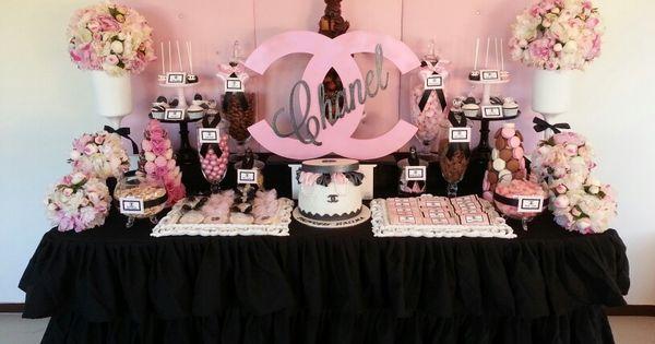 Chanel theme candy buffet | Candy buffets | Pinterest ...