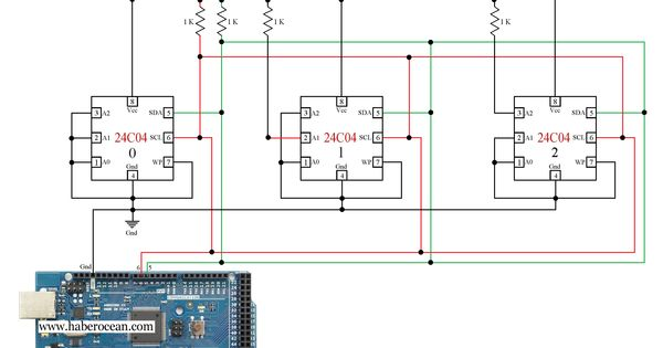 Circuit to Control Three 24C04 ICs through Single Bus System using - ics organizational chart