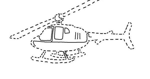 Tracing Helicopter Picture