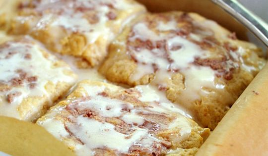 Giant Gooey Cinnamon Breakfast Biscuits | Recipe | Cinnamon Biscuits ...