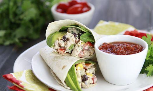 Santa fe chicken, Chicken salad wraps and Salad wraps on Pinterest