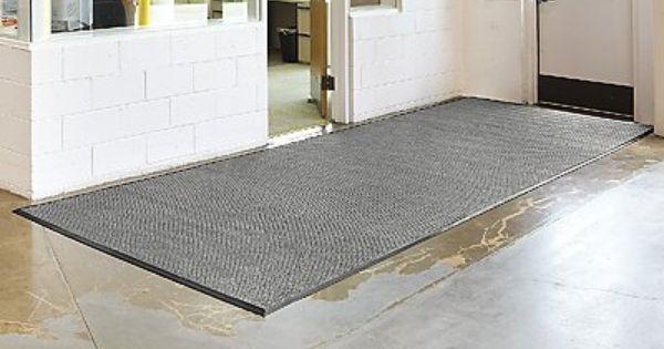 6 X 16 Medium Gray Waterhog Carpet Mat By Waterhog 525 00 Waterhog Soak Up Snow Water And Ice Quickly End W Waterhog Mat Slippery Floor Outdoor Gardens