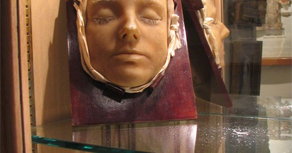 The death mask of Mary Queen of Scots. She was executed by