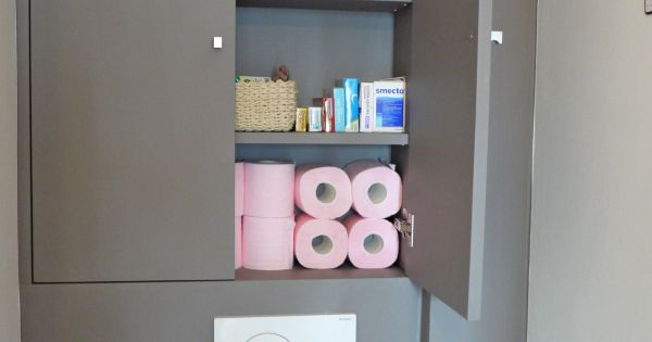 Avant apr s toilettes d co avec wc suspendu etcaetera wc pinterest avant apr s toilettes - Deco toilette suspendu ...
