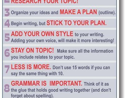 10 Writing Tips - though i can't say that i stick with