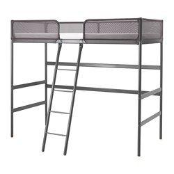 Tuffing Loft Bed Frame Dark Gray Loft Bed Frame Stuva