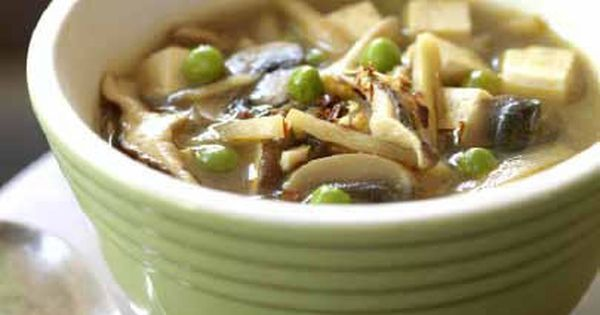 Slow cooker soups, including Vegan Hot and Sour Soup