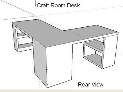 craft room desk design w sche klapptische. Black Bedroom Furniture Sets. Home Design Ideas