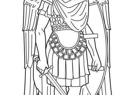 Coloring archangel michael angels pinterest for Archangel michael coloring page