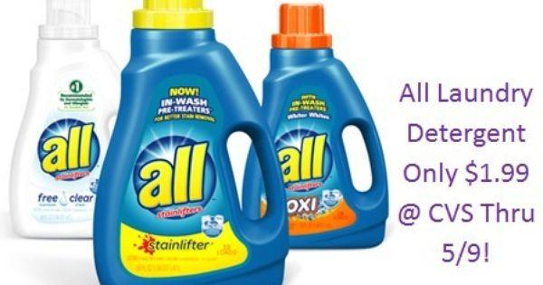 Cheap All Laundry Detergent At Cvs Thru 5 9