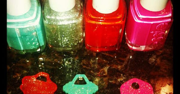 nail polish key rings