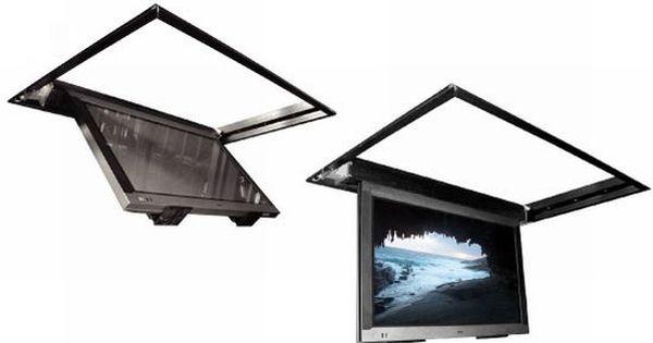 Ceiling swing down tv bracket flatlift tv lift for Motorized tv mount over fireplace