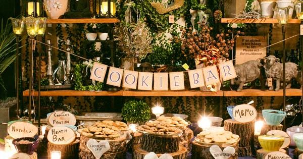 Cookie Bar This charming cookie buffet was styled similarly to an ice
