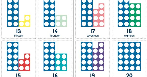Hereu0026#39;s a set of Numicon cards for numbers 1-31. : Numicon ...