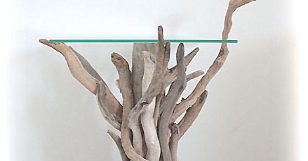 Table de chevet en bois flott natydeco htp www for Miroir vagabond