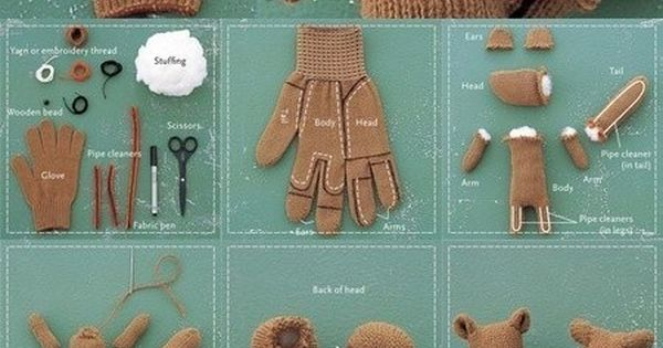 Making A Chipmunk Toy From A Glove! (how fun!!! This is so
