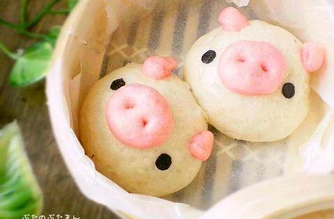 Cute Dim Sum Pig Pork Buns Anything Piggie Related From