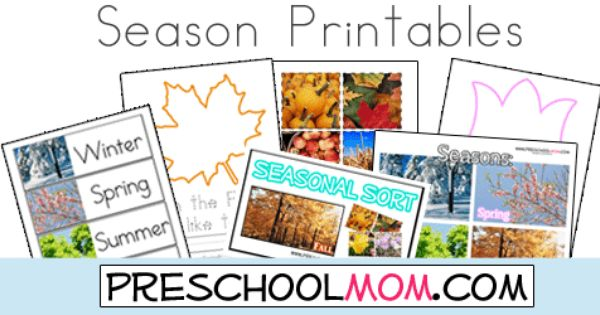 free four seasons printables from preschool mom wordwall cards printable charts file folder. Black Bedroom Furniture Sets. Home Design Ideas