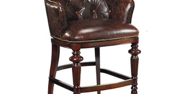 Tufted Leather Boswell Barstool From Http Www Frontgate