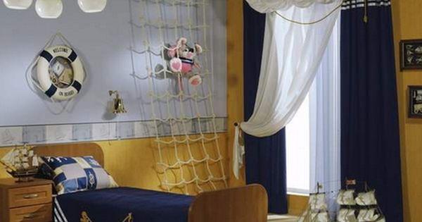 Cortinas Para Ni Os Cortinas Infantiles Su Dormitorio En 2017 Ideas Y Fotos Infantiles Nino Piratas