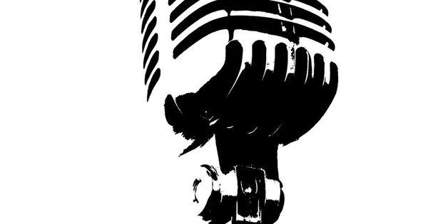 Microphone Stencils Pinterest