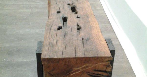 banc poutre ch ne vieilles poutres pinterest bricolage jambes et bois. Black Bedroom Furniture Sets. Home Design Ideas