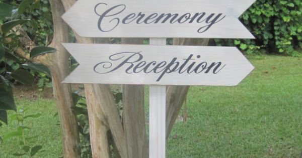 Rustic Wedding Signs Directional Decoration Road Sign