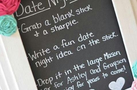Date Night ideas for couple - Bridal Shower game