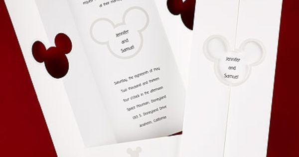 Mickey Outline Disney Wedding Invitations Pinterest