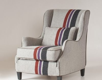 Wool blanket chair