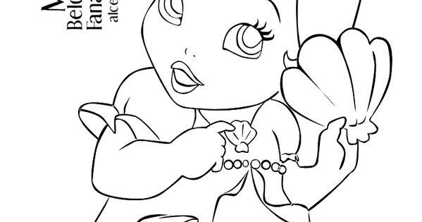 baby ariel Google Search CRAFTS (Coloring book