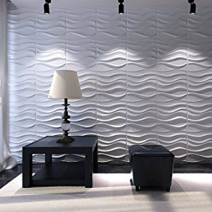 Amazon Com Art3d Decorative 3d Wavy Wall Panel Design Pack Of 12 Tiles 32 Sq Ft Plant Fiber Home Kitchen Wandpaneele Wandtafel Design Und Verkleidung Wande