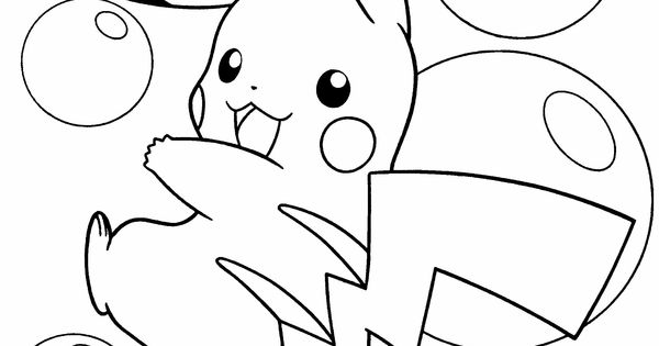 Pokemon Pikachu Is Happy Coloring Page coloring