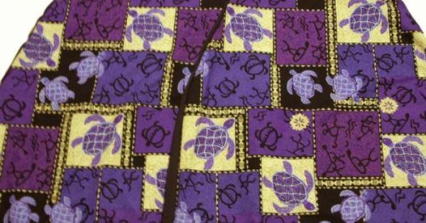 Hawaiian Car Seat Covers Purple Sea Turtle Set Of 2