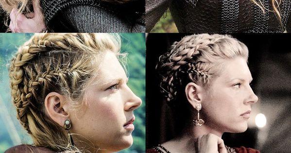 Shield maiden Vikings hair style