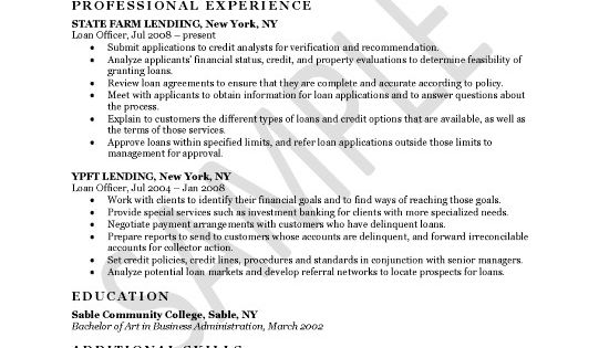 Loan Officer Resume Example Resume Examples