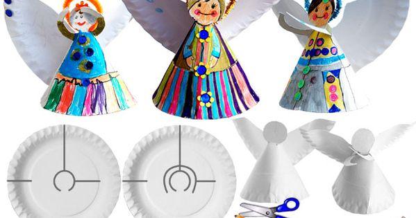 Christmas paper plate Angel | krokotak