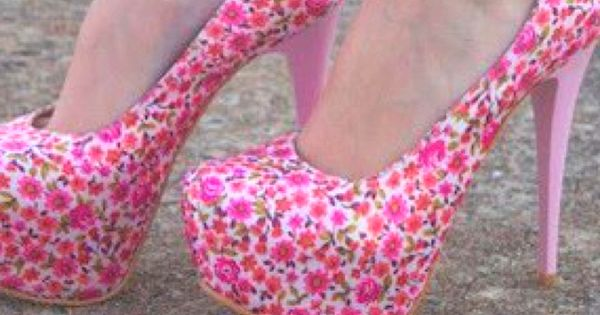 Pink floral high heels :) | Pink Shoes | Pinterest | The o'jays ...