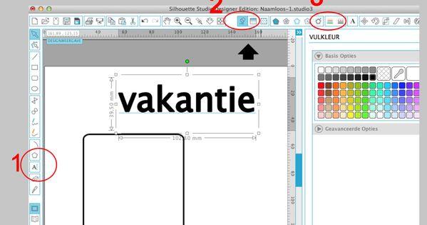 Hoe stel je de lijnkleur in en vul je de tekst op in silhouette studio lijnkleur veranderen - Hoe je je studio ontwikkelt ...