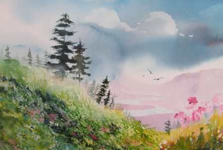 Painting Landscapes Watercolor Landscape Paintings Landscape