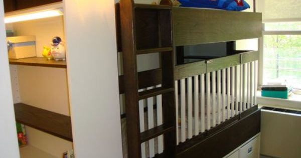 Hand Crafted Bunkbed Crib By Endless Design Custommade Com Custom Bunk Beds Cribs Kids Bedroom Decor